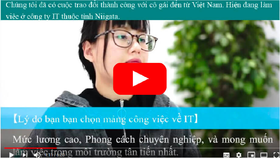 We interviewed a Vietnamese woman who works in IT.